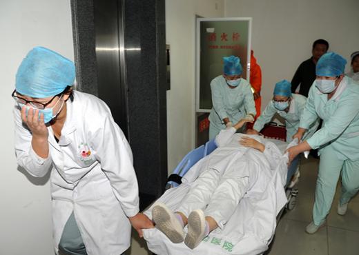 佑安医院/2014年10月11日,北京佑安医院开展2014年消防安全灭火和疏散...